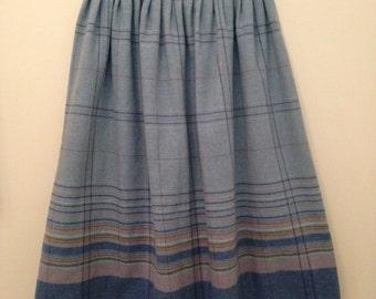 70s Highwaisted Striped Circle Skirt