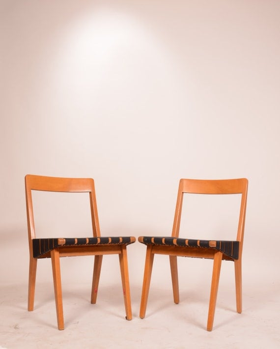 Pair of jens risom 666 side chairs for knoll with new - Jens risom side chair ...