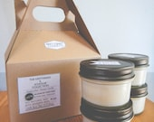 Gentleman and Scholar Collection: Four 4oz aromatherapy candles