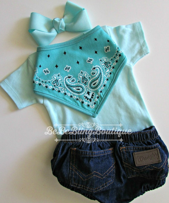 Newborn Baby Cowgirl Western Country Take Me Home Outfit