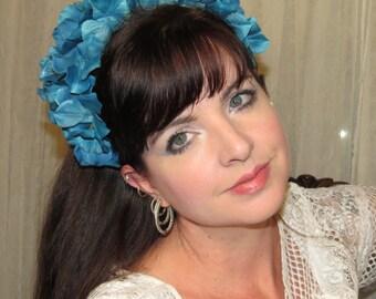 TEAL CROWN Hydrangea Blossom Headdress Hair Adornment