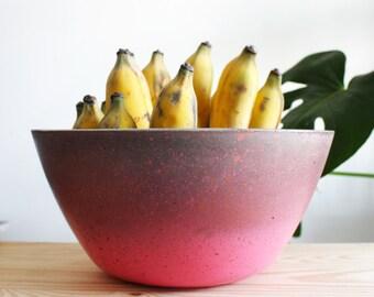 Concrete Fruit bowl colour Copper and Guava kitchen display bowl