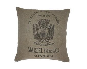 Martel Frères & Cie - Grands Moulins de Paradis Pillow Sham