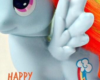 Rainbow Dash MLP Happy Birthday Card