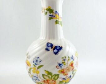 Aynsley English China Vase Cottage Garden, Made in England