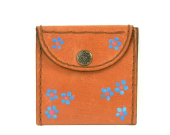 Flower Power Leather Wallet from Argentina by Artesanias en Cuero