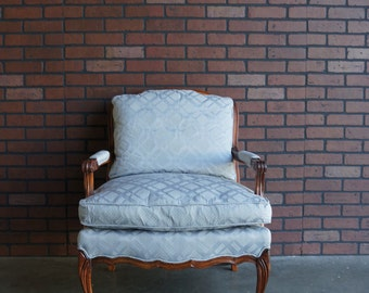 French Chair / Bergere Chair / French Provincial Chair / Accent Chair / Country French Chair / Carved Accent Chair