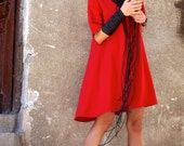 New Collection Sexy Little Red Dress / Red Dress / Extravagant Loose  Dress / Party Dress / Daywear Dress by AAKASHA A03220