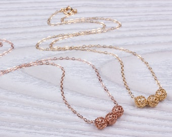 "Knot necklace /  Layered necklace / Gold Knot necklace / Rose gold Knot necklace / Bridesmaid necklace / Gold Filled Necklace / ""Iacchus"""