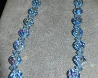 Necklace Blue Crystal Vintage