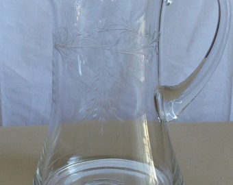 Crystal Etched Pitcher