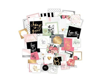 Heidi Swapp - Foil Pocket Cards - Hello Beautiful Collection - Planner Cards - Journaling Cards - Inspiration Cards - 125274