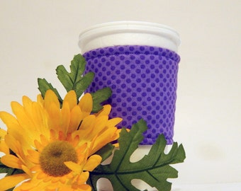 Purple Fabric Coffee cup Cozy/ Coffee Sleeve/ Beverage Sleeve/ Beverage Cozy/ Coffee Cozy/ Coffee Jackets