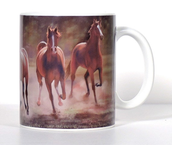 Items similar to horse art mug horse lover gift Gifts for kitchen lovers