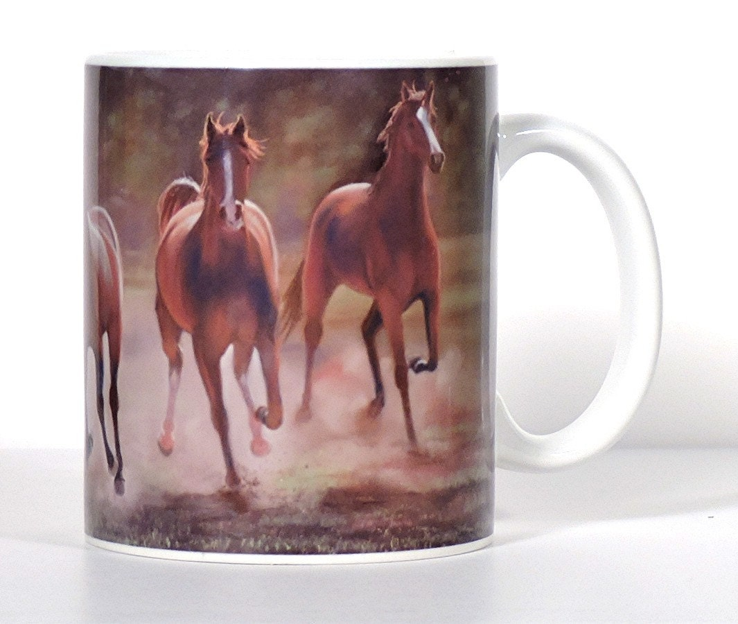 Horse art mug horse lover gift western kitchen by artbyjulene Gifts for kitchen lovers