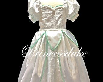 Princess Ariel Wedding Dress Inspired Princessduke Flower Girl Pageant Ball Gown Dress