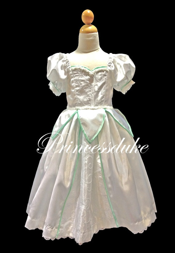 Princess Ariel Wedding Dress Inspired Princessduke Flower Girl