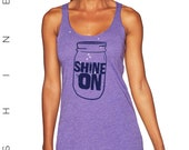 "NEW ""Shine On"" tank with glitter"
