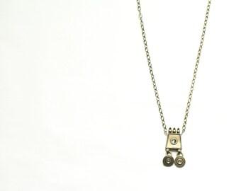 unique pendant necklace / vintage long necklace / downton abbey inspired 1920s necklace / long brass necklace #1493