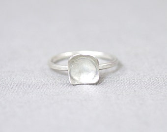 Sterling Silver Dainty Scoop Ring