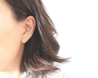 Triangle Ear Climbers - 3034