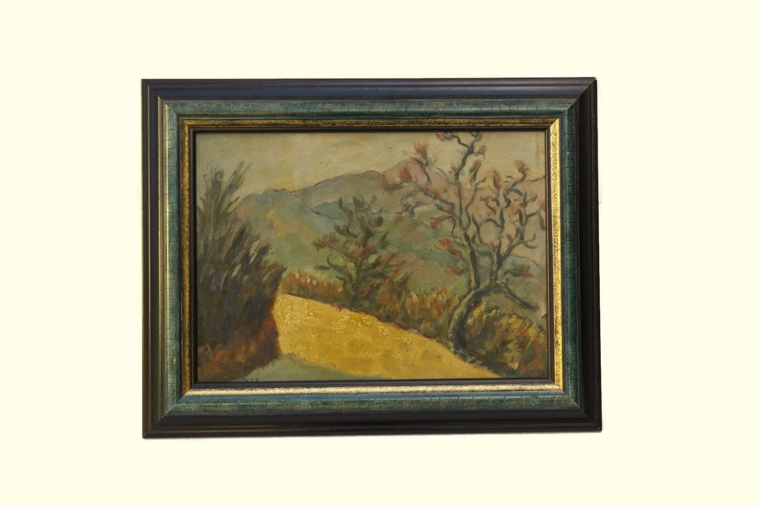 Rustic French Wall Decor : French country landscape painting rustic decor framed art