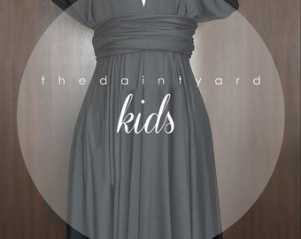 KIDS Black Bridesmaid Convertible Dress Infinity Dress Multiway Dress Twist Dress Wrap Dress Flower Girl Dress