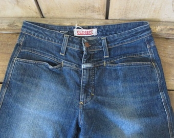 vintage CLOSED High waisted PEDAL denim • 80s jeans