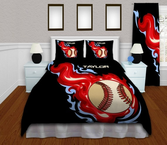 Baseball Themed Bedding Set Comforter For Boys