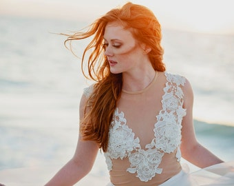 Aphrodite lace bridal top
