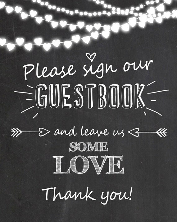 please sign our guestbook wedding sign wedding guest book sign. Black Bedroom Furniture Sets. Home Design Ideas