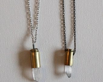 Quartz Bullet Necklace (short)