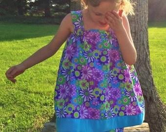 Bright flowered capri set size 1T to children 12