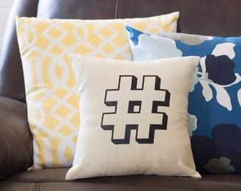 Hashtag Decorative Throw Pillow