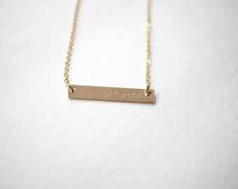 gold mama necklace, mama bar necklace, mom necklace, mothers day, gifts for mom, mothers day, mothers necklace, mothers day gift, mama