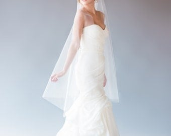 Single Tier, Waltz Length Veil, Ballet Length Veil, Wedding Veil, Bridal Veil, Fingertip Veil, Custom Veil, STYLE: ISABELLE