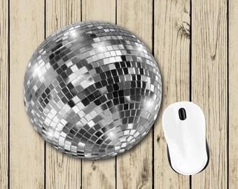 Silver Disco Ball Mousepad - Cute Mousepad - Student Gift - College Dorm Decor - Teacher Appreciation Gift - Boss Gift - Birthday Gift