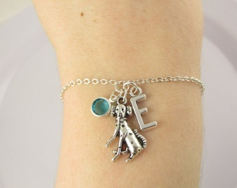 Dalmatian Bracelet- choose a birthstone and initial, Dalmatian Jewelry, Dalmatian Gift, Personalized Dalmatian, Dalmatian Dog, Dog Bracelet