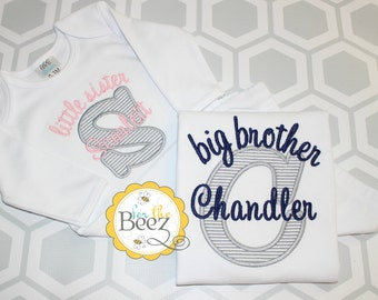 Big Brother Little Sister Shirts, Sibling Set, Sibling Shirts, Big Brother Little Sister Outfit, Big Bro Lil Sis, Big Brother Little Sister