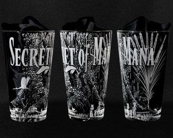 Secret of Mana Engraved Drinking Glass