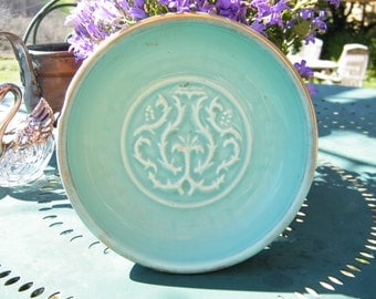 "Embossed ""MAGDALITHE"" soap dish or trinket plate"