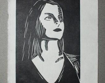 Untitled, 2014  linocut,  12,5 x 20 cm