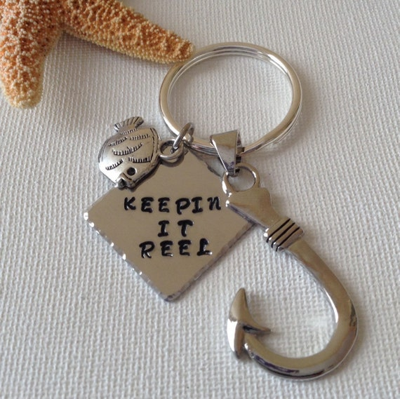 Fisherman Keyring Keepin It Reel Fish Lovers Fishing