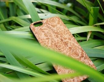 Rose - iPhone 6/6s Plus case - Wood iPhone 6/6s Plus case - Natural Wood iPhone 6/6s Plus case - Wooden iPhone 6+ case