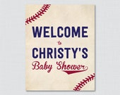 Baseball Baby Shower Welc...