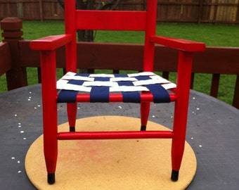 Red, White, and Blue Americana Children's Chair