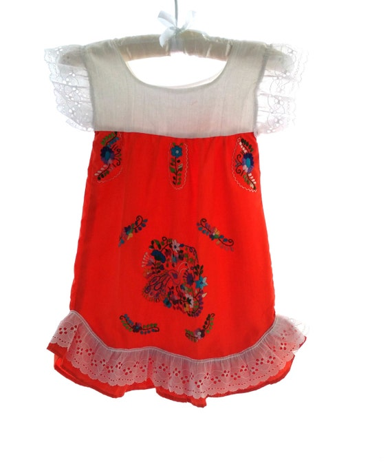 Angela s handmade embroidered mexican baby dress by