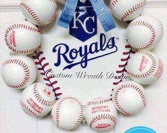 13 Kansas City Royals Baseball Wreath