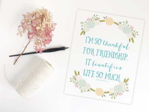 Quotes From Anne Of Green Gables About Friendship : Printable anne of green gables print friendship quote