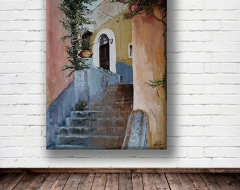 Oil painting, Wall art, Modern art. Summer is around the corner .canvas art,Home décor, Painting, Wall decor, Abstract painting.oil Painting